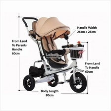4-STAGE SUPREME STROLLER TRICYCLE (6 MONTHS TO 8 YEARS)