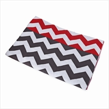 FASHION PRINTED BABY COTTON WATER UPTAKE BLANKET / BATH TOWEL (RED + W