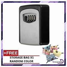 Steel Wall Mount Key Box with Combination Lock Safe Storage Key Outsid
