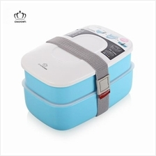 CNCROWN PLASTIC BENTO LUNCH BOX (LIGHT BLUE)
