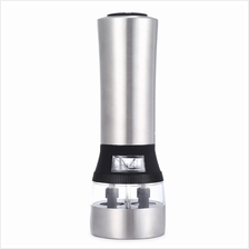 2 IN 1 ELECTRIC STAINLESS STEEL PEPPER SALT MILL GRINDER KITCHEN ACCES