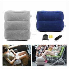 Airplane Train Travel Inflatable Leg Foot Rest Portable Pillow Cushion