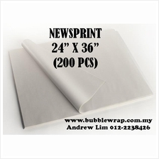 200pcs Newsprint Paper Sheets 24'x36' For Packing