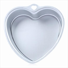 Heart Shaped Cake Mold Pan SILVER