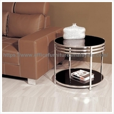 Small Round Glass Coffee Table YGT-8765ST putrajaya Cyberjaya bangi KL