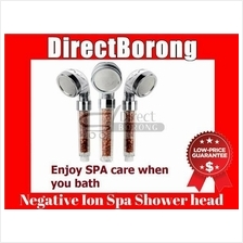 Negative Ion Spa Shower Head Filter Purifier With Button
