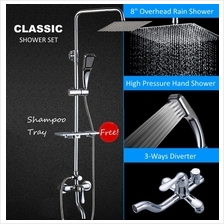 Classic Rain Shower  & Bath Set for Water Heater