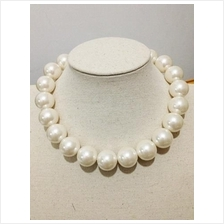 Korea Glass Pearl String Necklace 16 mm