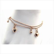 Rose gold charm bracelets with heart and FREE jewelry box