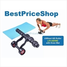 GYM Grade 4 Wheel Ab Roller 6 Packs Abdominal Workout Fitness Exercise