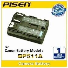 PISEN Camera Battery BP-511A Canon ZR80 Digital Rebel 1D D60 D30 300D