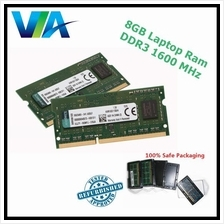 8GB DDR3 Laptop Memory RAM - 1600MHz 12800S ( Intel and AMD )
