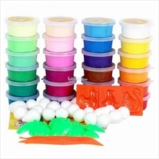 24 COLOURS NON TOXIC DIY POLYMER MAGIC CLAY SET
