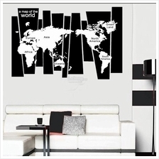 World map price harga in malaysia lelong 75105 cm black travel world map poster sticker gumiabroncs Choice Image