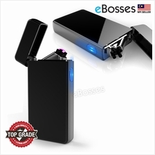 Dual Arc Plasma Lighter USB Rechargeable Windproof Flameless Butane Fr