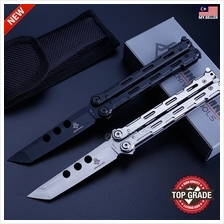 Outdoor Stainless Steel Butterfly Folding Knife Training