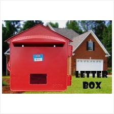 Letter Box PVC Mailbox Pos Red For Home Office School