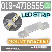 10mm soft silicone mounting bracket holder for led strip
