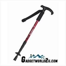 Hiking Stick Retractable with Anti Shock - Red