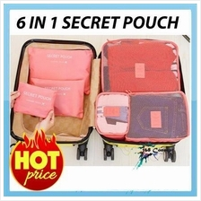 6 IN 1 Travel Organizer Bag Pouch Secret Pouch (T-0003)
