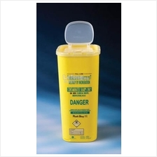 Plastilab Sharp Bin 1L Capacity, Yellow (1pc)