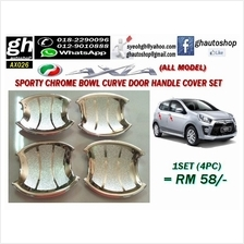 AXIA (all model) sporty chrome door handle curve garnish cover set