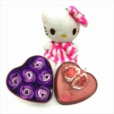 Mother's Day Gift Heart Shaped Tin with Roses  + Hello Kitty