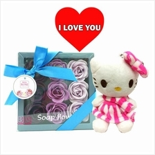 Mother's Day Gift Rose Flower in Box + Hello Kitty