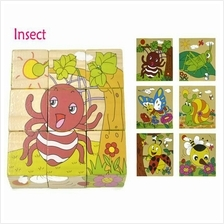 Wooden Toy Toys Puzzle Blocks For Children Kids Educational - Insect