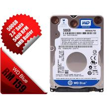"Western Digital WD Blue SATA 500GB 2.5"" Laptop Hard Disk HD WD5000LPVX"