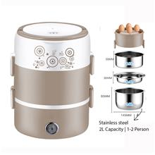 3 Layers Mini Rice Cooker Steamer Multi Cooker Stainless Steel