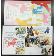 Malaysia 20180118 WORKING DOG MS & Stamps FDC with Special Brochure