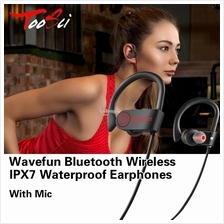 Wavefun Bluetooth EarphonesIPX7 Wireless Waterproof Earphones With Mic