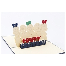 3D Pop Up Baby Children Kids Greating Happy Birthday Cards