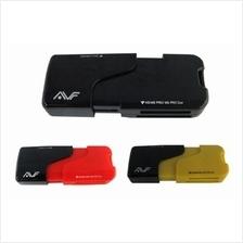 AVF ALL IN 1 USB 2.0 CARD READER (ACR718) BLK/RED/YEL