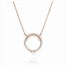 ASTRID&MIYU FITZGERALD CIRCLE NECKLACE IN ROSE GOLD)
