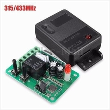 12V 1CH Channel RF Remote Control Receiver Relay Switch 433Mhz