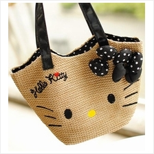 Hello Kitty Straw Bag 2015 ~shoulder bag , big
