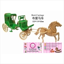 Pony 3D Wooden Puzzle carriage with horse