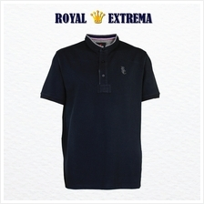 ROYAL EXTREMA BIG SIZE Mandarin Collar Trimming with Woven Piping Tshirt RE201