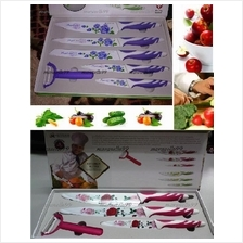 Razor Sharp 4Pieces / 6 Pieces Antibacterial Rose Stainless Knife Sets