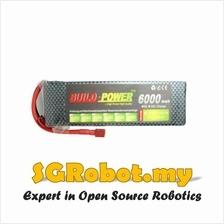 11.1V 25C 3S 6000mah Lipo Li-Po Rechargeable Lithium Battery