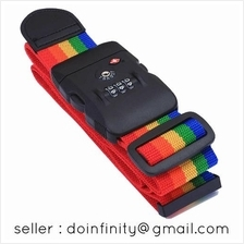 Jasit TSA Approved 3 Digit Code Travel Luggage Belt Rainbow Strap Lock