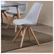 Contemporary Dining Side Chair Wooden Leg YGRCD-890CGY/W Ampang KL