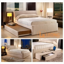 GETHA 3 In 1 Bedframe Highly Functional Saves Space Pull Out Drawer