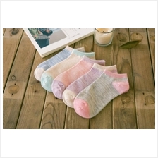 Women Lady Girl Sweet Candy Colors Short No Show Socks Cotton
