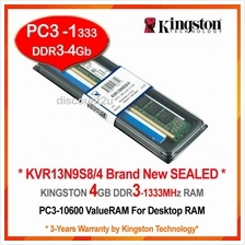 KINGSTON 4GB DDR3-1333 DESKTOP PC RAM Memory