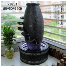 LARGE VASE WATER FOUNTAIN HEIGHT 92 CM HOME DECORATION 8231