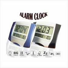 Multifunction Digital LCD Clock With Alarm/ Date/ Temp