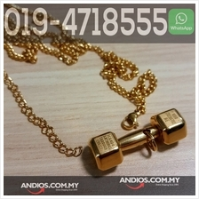 3.2cm Dumbbell Necklace Pendant Sport Gym